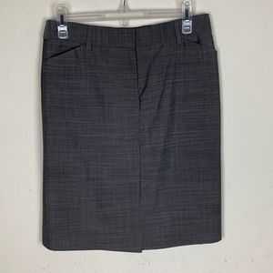J Crew- Gray Wool Skirt size 4